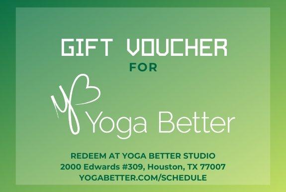 Gift Voucer for Yoga Better
