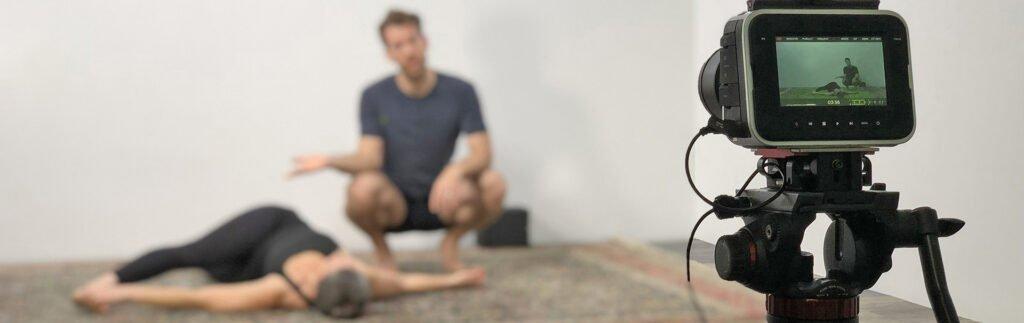 Yoga instructors behind the camera